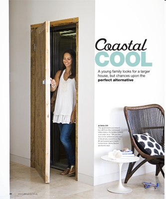 real living magazine feature chinese elm elevator door solidartz custom made