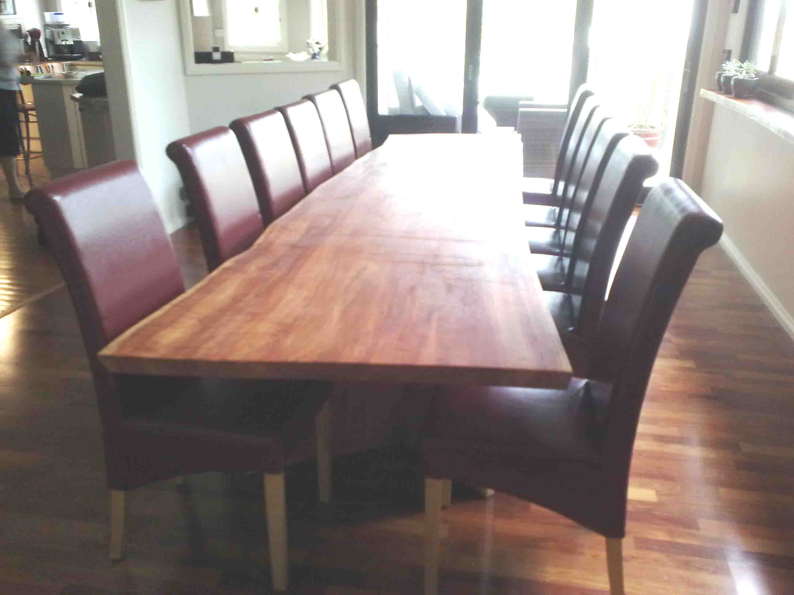 solid slab table, australian hardwood, solidartz, custome furniture, custom design
